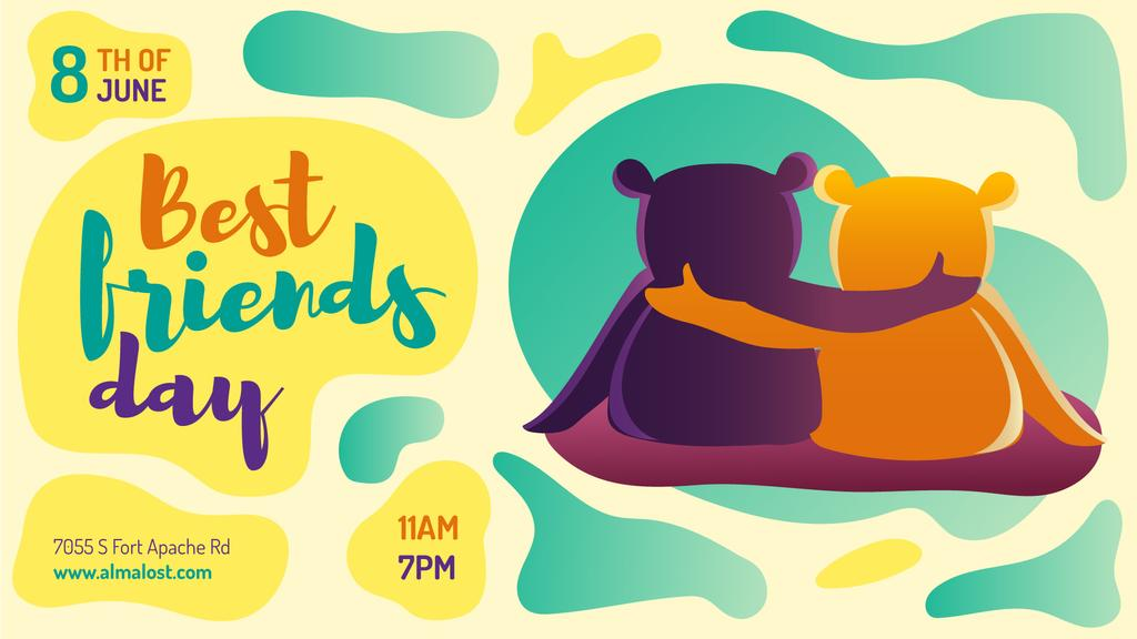 Best Friends Day two Bears Hugging — Crear un diseño