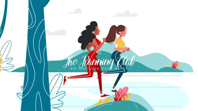 Plantilla de diseño de Running Club Ad Women Runners Outdoors Full HD video