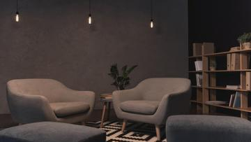 Cozy Home Interior with soft armchairs