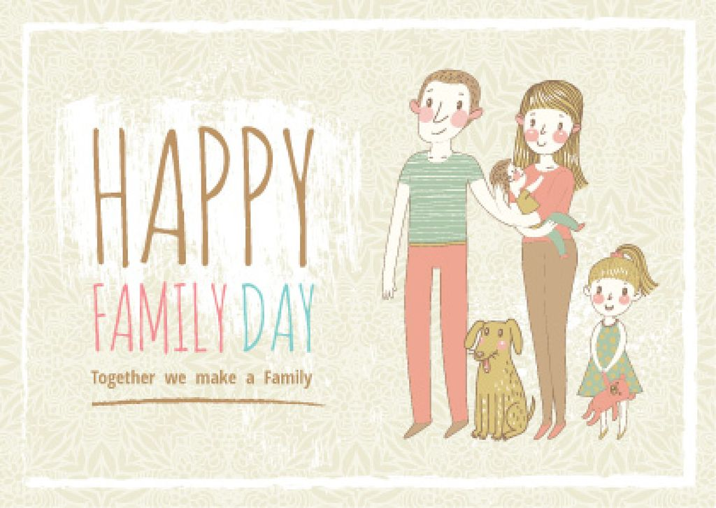 happy family day poster — Crear un diseño