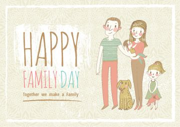 happy family day poster