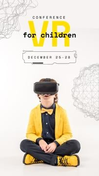 Boy in VR glasses