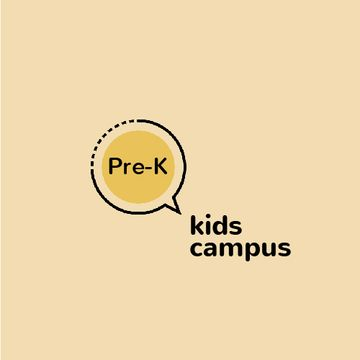 Kids Campus Ad Speech Bubble Icon | Animated Logo Template
