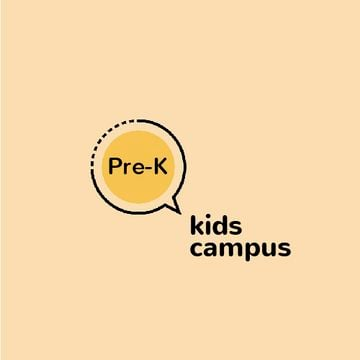 Kids Campus Ad Speech Bubble Icon