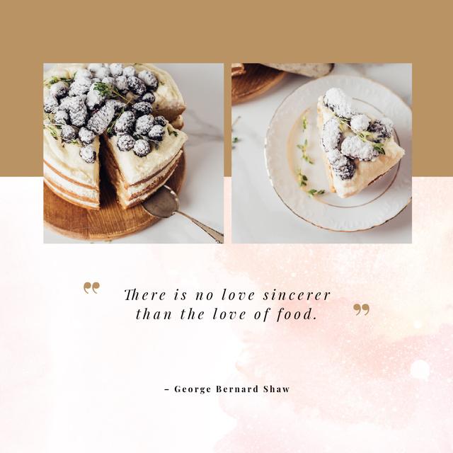 Delicious cake with berries Instagram – шаблон для дизайну