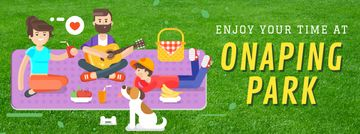 Family on a Picnic in Park | Facebook Video Cover Template