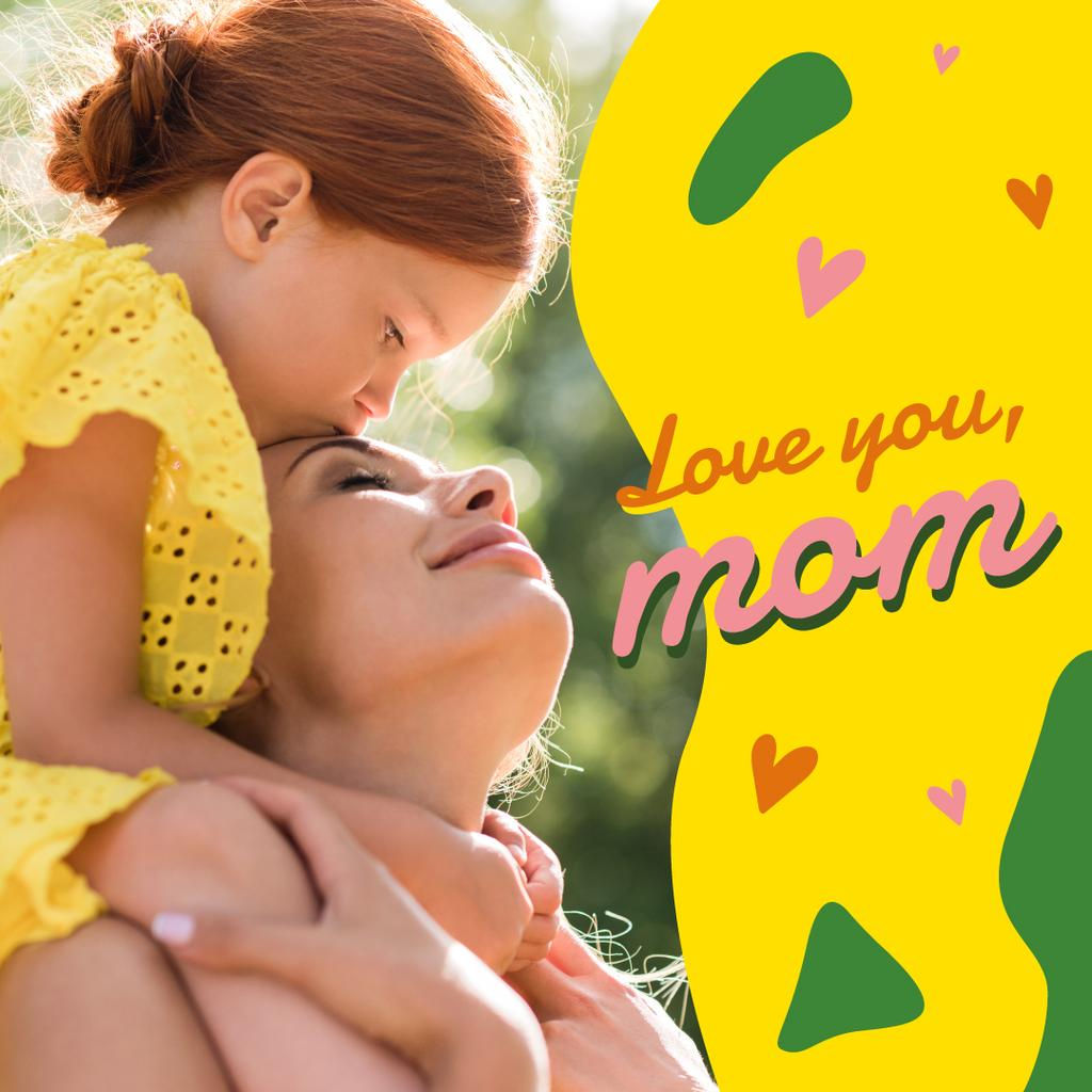 Happy mother with her daughter on Mother's Day — Crear un diseño
