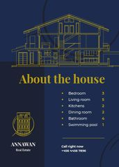 Real Estate Ad Geometric Pattern in Blue