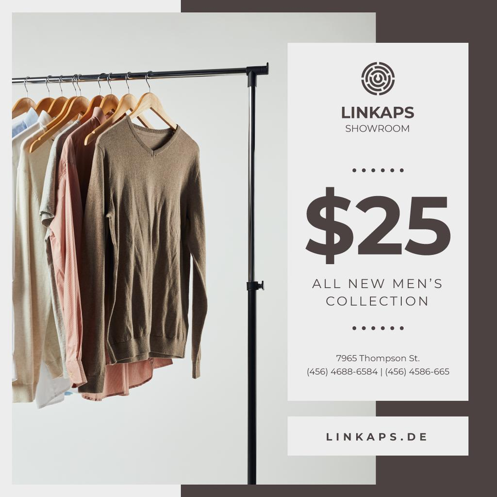 Clothes Sale Shirts on Hangers — Crea un design