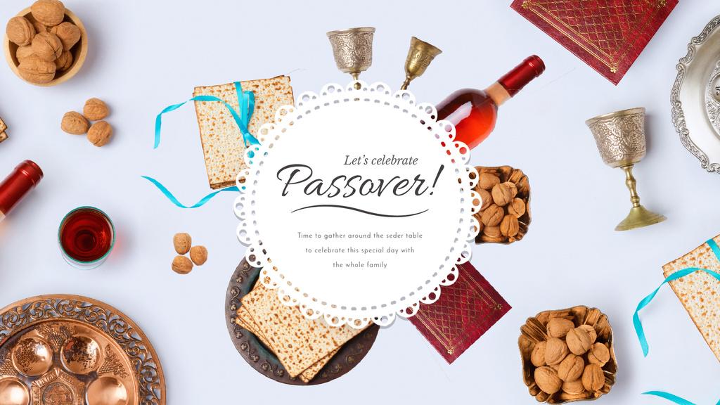Happy Passover Dinner Table Frame — Modelo de projeto