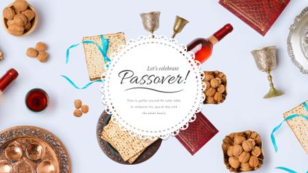 Happy Passover Dinner Table Frame Full HD video Modelo de Design