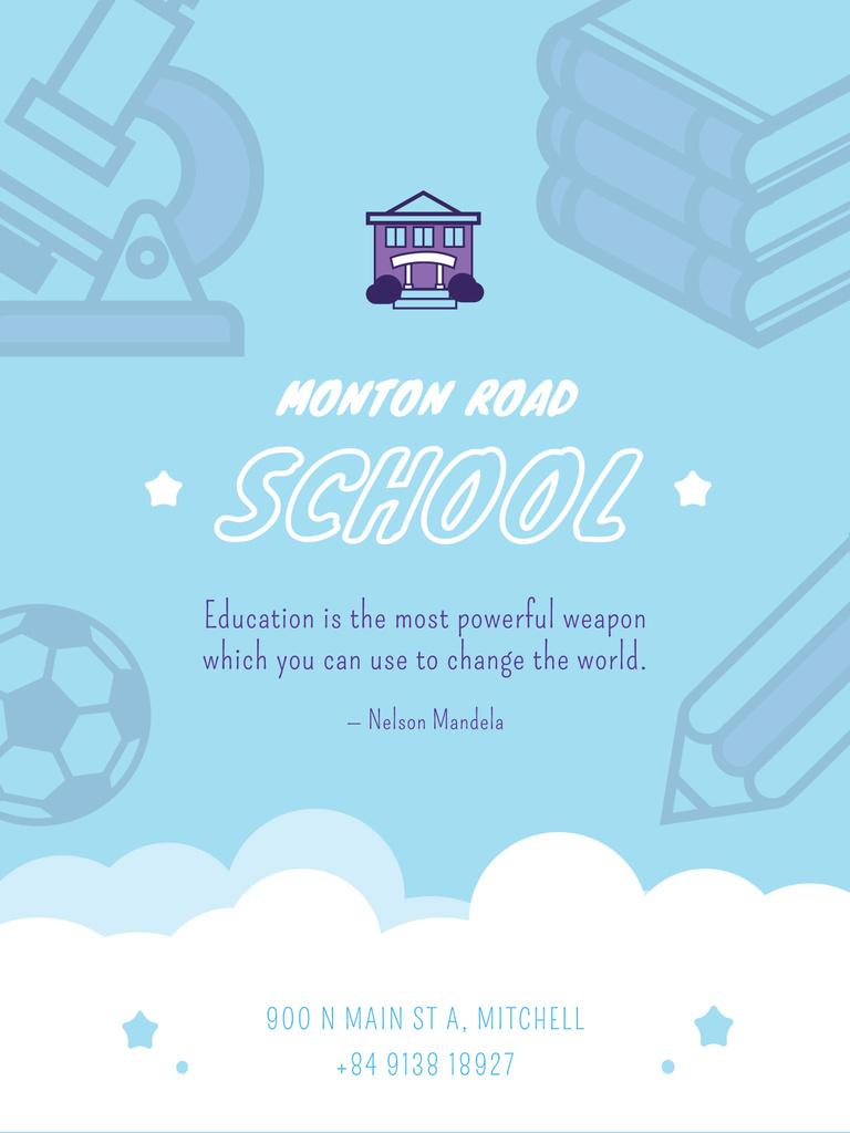 School advertisement poster — Modelo de projeto