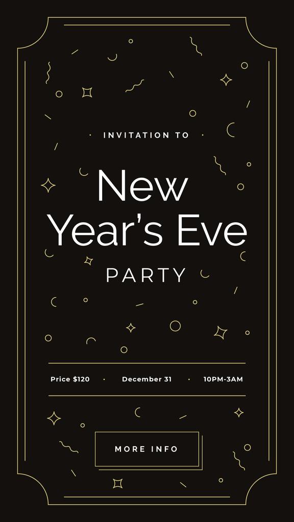 New Year's Party invitation — Modelo de projeto