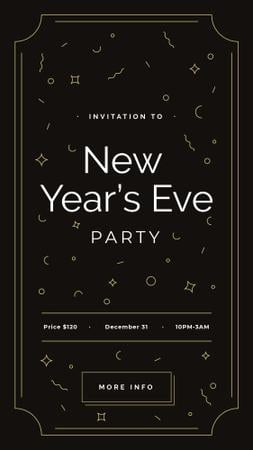 New Year's Party invitation Instagram Story Tasarım Şablonu