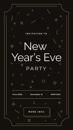 New Year's Party invitation Instagram Story Modelo de Design