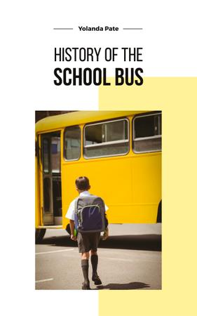Kid Taking School Bus Book Cover Modelo de Design