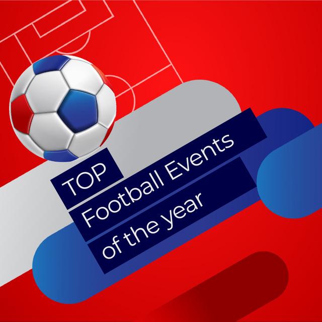 Modèle de visuel Jumping soccer ball - Animated Post