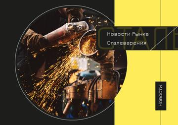 Industry Guide with Man Welding in Workshop