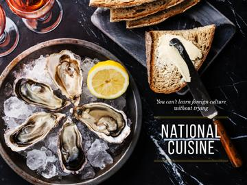 National cuisine banner