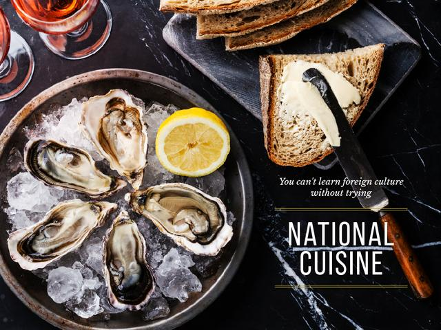 National cuisine on table Presentation Design Template