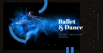 Passionate Professional Dancer in Blue | Facebook Ad Template
