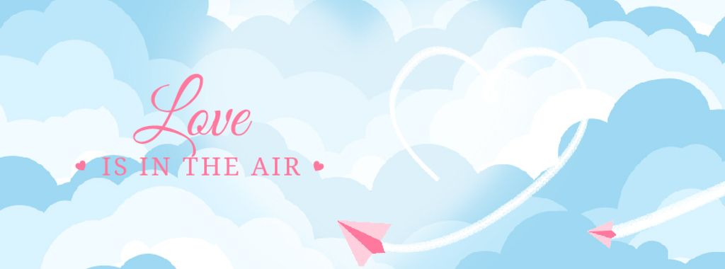 Paper plane drawing Heart in the sky — Создать дизайн