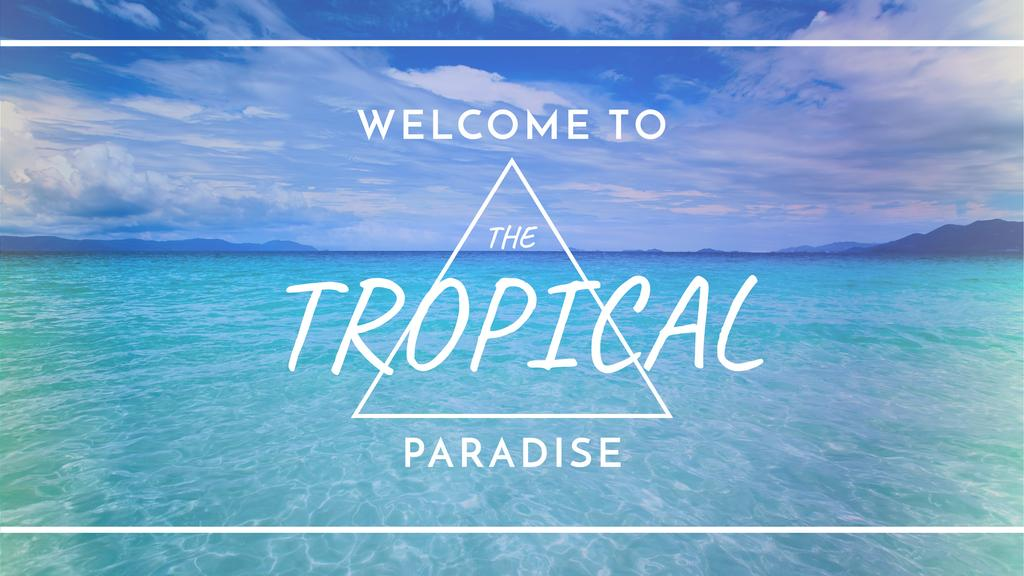tropical paradise poster youtube channel art 2560x1440px