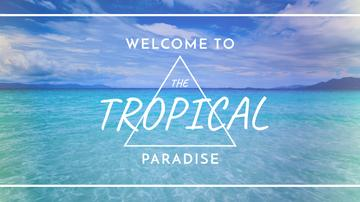 Tropical Vacation Offer Blue Sea View | Youtube Channel Art