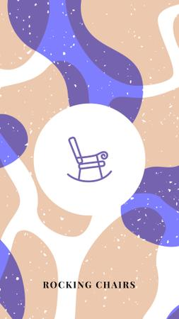 Modèle de visuel Furniture store icons in blue - Instagram Highlight Cover