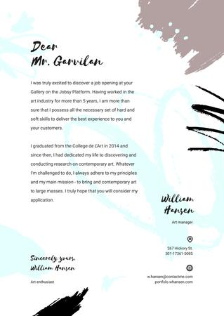 Ontwerpsjabloon van Letterhead van Professional designer motivation letter