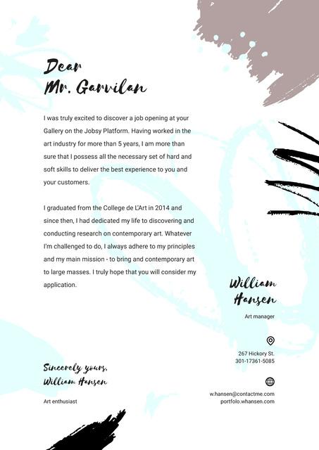 Professional designer motivation letter Letterheadデザインテンプレート