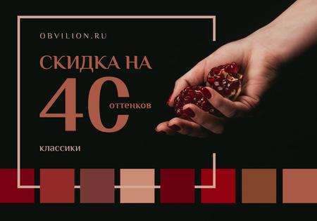 Plantilla de diseño de Female hand holding pomegranate VK Universal Post