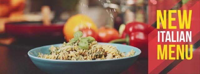 Template di design Sprinkling cheese on Italian menu pasta Facebook Video cover