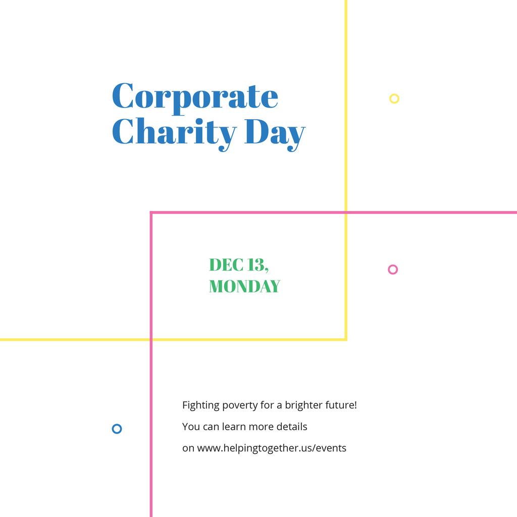 Modèle de visuel Corporate Charity Day - Instagram