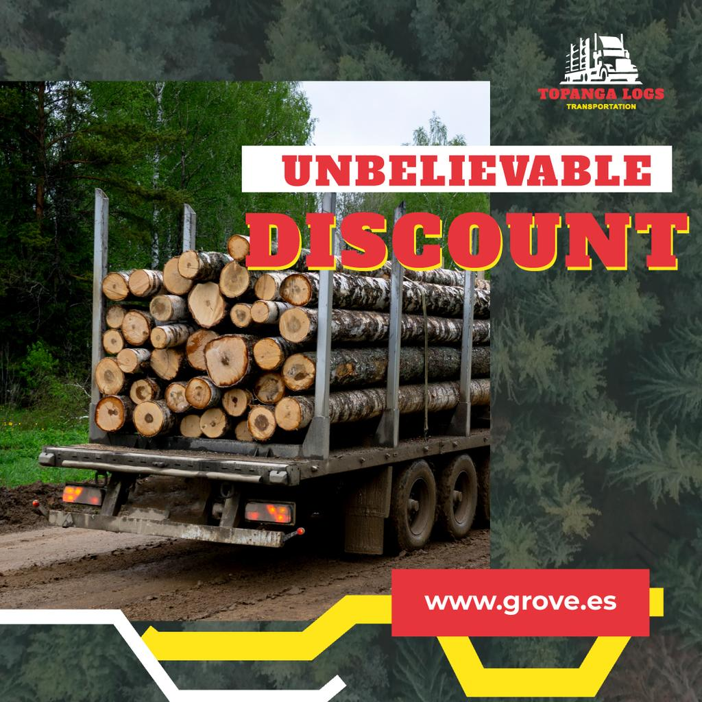 Transportation Services Offer Truck Delivering Logs - Bir Tasarım Oluşturun