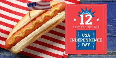 12 Recipes on USA Independence Day Image – шаблон для дизайну