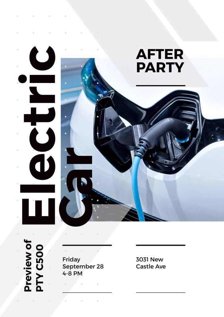 invitation to electric car exhibition — Crea un design