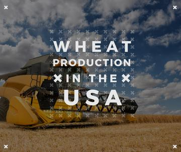 wheat production in the USA poster