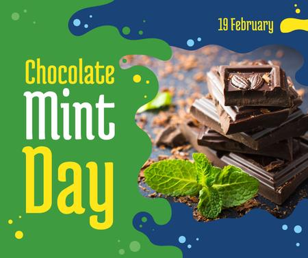 Ontwerpsjabloon van Facebook van Chocolate Mint day celebration