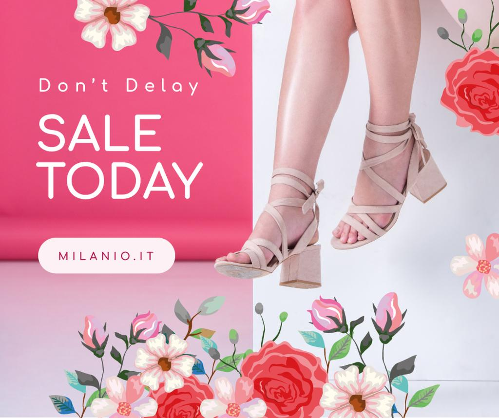 Fashion Sale Woman in Heeled Shoes — Crea un design