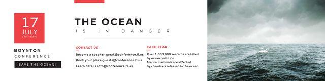 Plantilla de diseño de Boynton conference the ocean is in danger Twitter