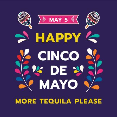 Plantilla de diseño de Cinco de Mayo Mexican holiday Instagram