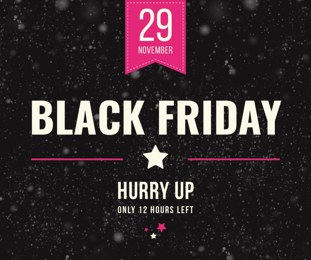Plantilla de diseño de Black Friday Sale on glitter Facebook