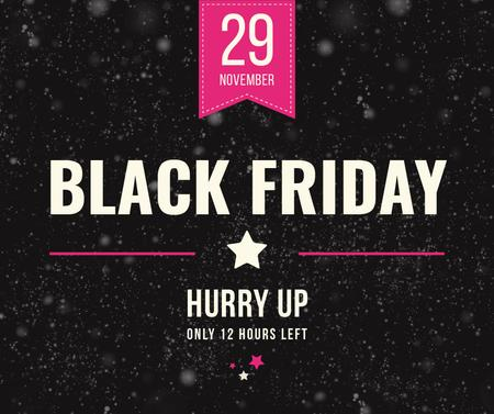 Template di design Black Friday Sale on glitter Facebook