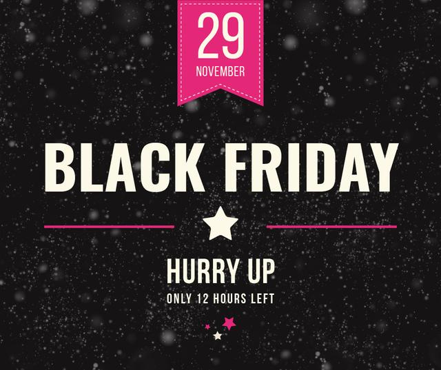 Black Friday Sale on glitter Facebook Modelo de Design