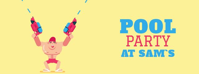 Template di design Pool Party Invitation Facebook Video cover