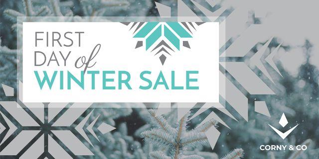 Szablon projektu First day of winter sale Twitter