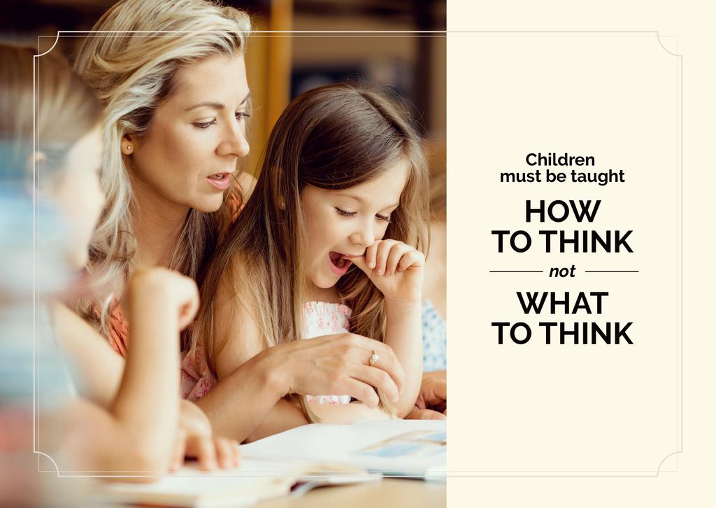 child creative thinking poster  — Modelo de projeto