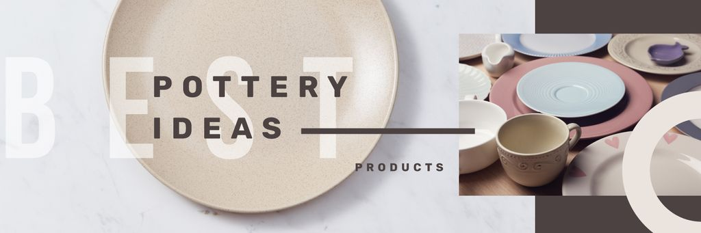 Pottery Ideas Kitchen Ceramic Tableware | Twitter Header Template — Créer un visuel