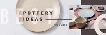 Pottery Ideas Kitchen Ceramic Tableware | Twitter Header Template
